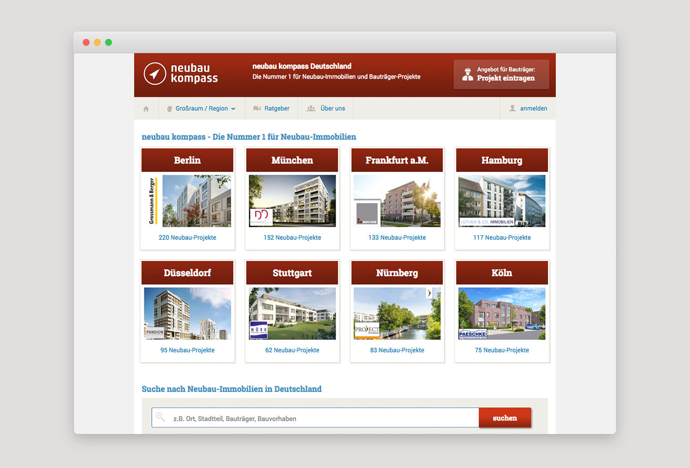 Webdesign für Immobilienportal