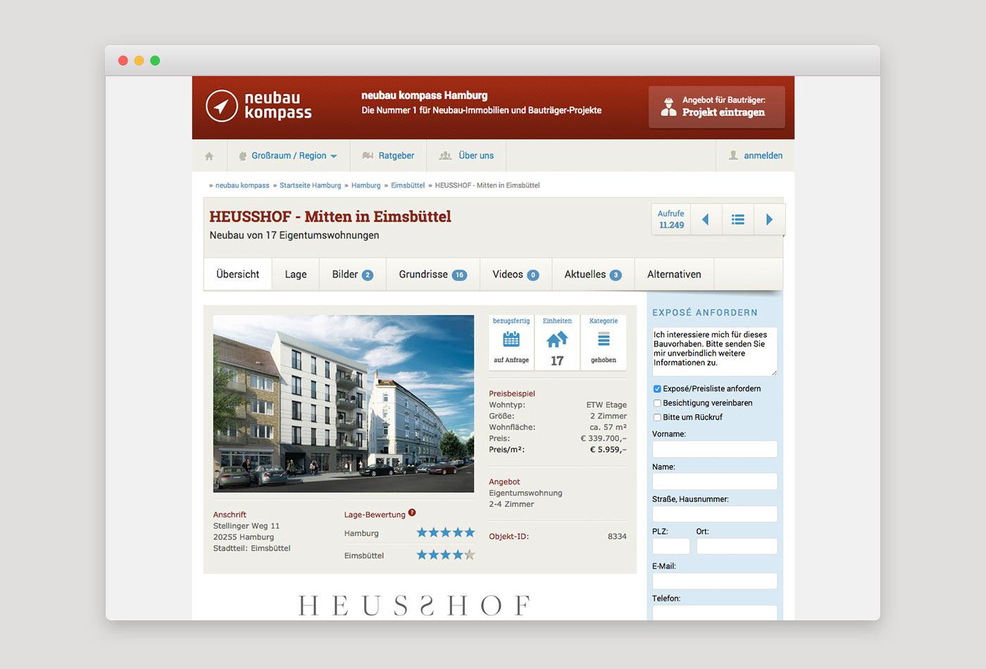 Webdesign München für Immobilienportal