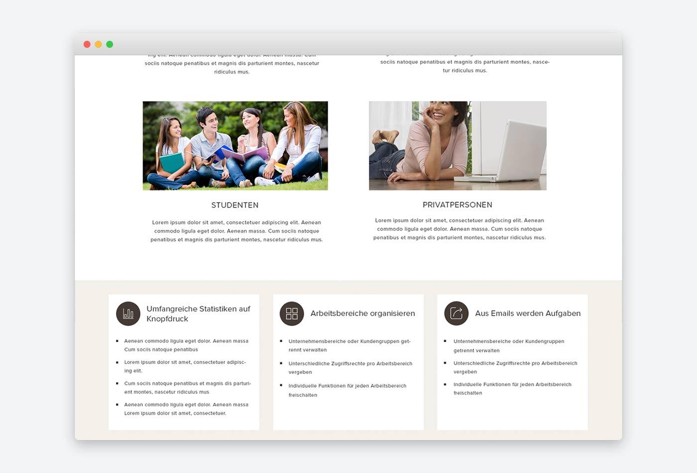 Webdesign München für Webanwendung