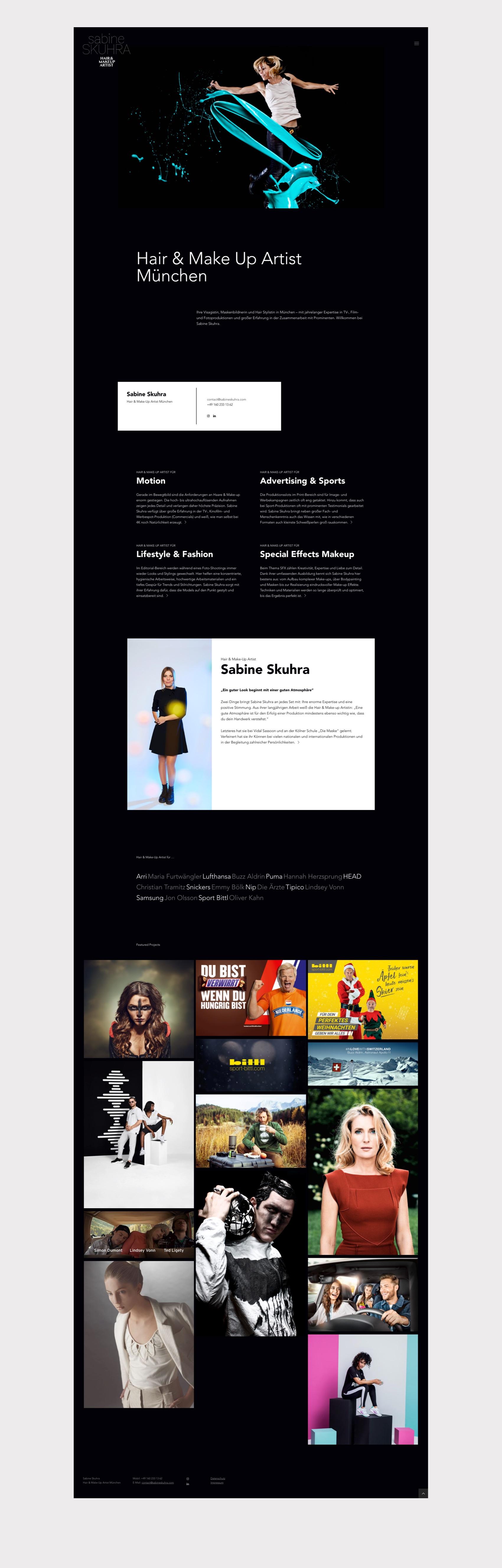 Webdesign München für Makeup Artist