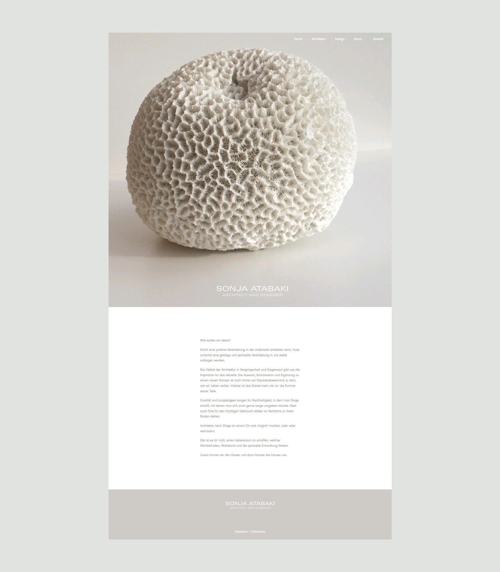 Webdesign München für Architektin