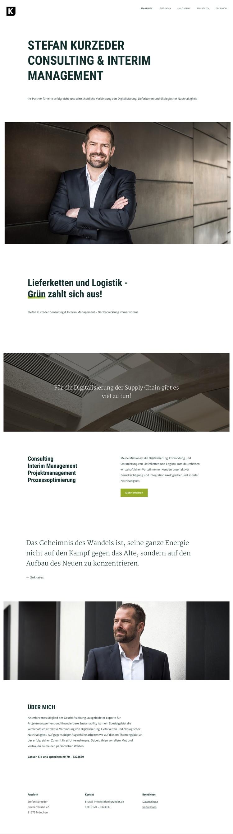 Webdesign München für Consulting & Interim Management