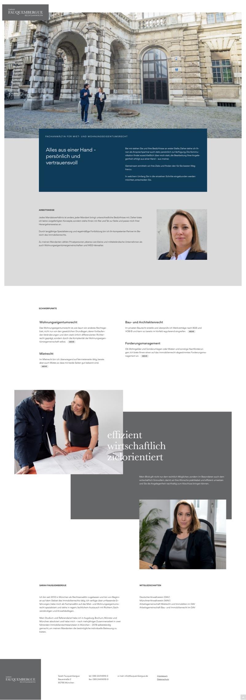 Webdesign München für Fachanwältin für Mietrecht