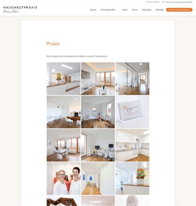 Webdesign München für Hausarztpraxis in Brunnthal bei München