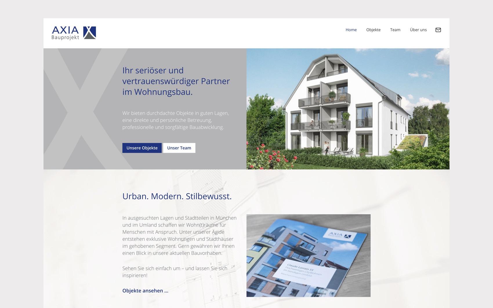 Webdesign München für Immoblienvermittlung