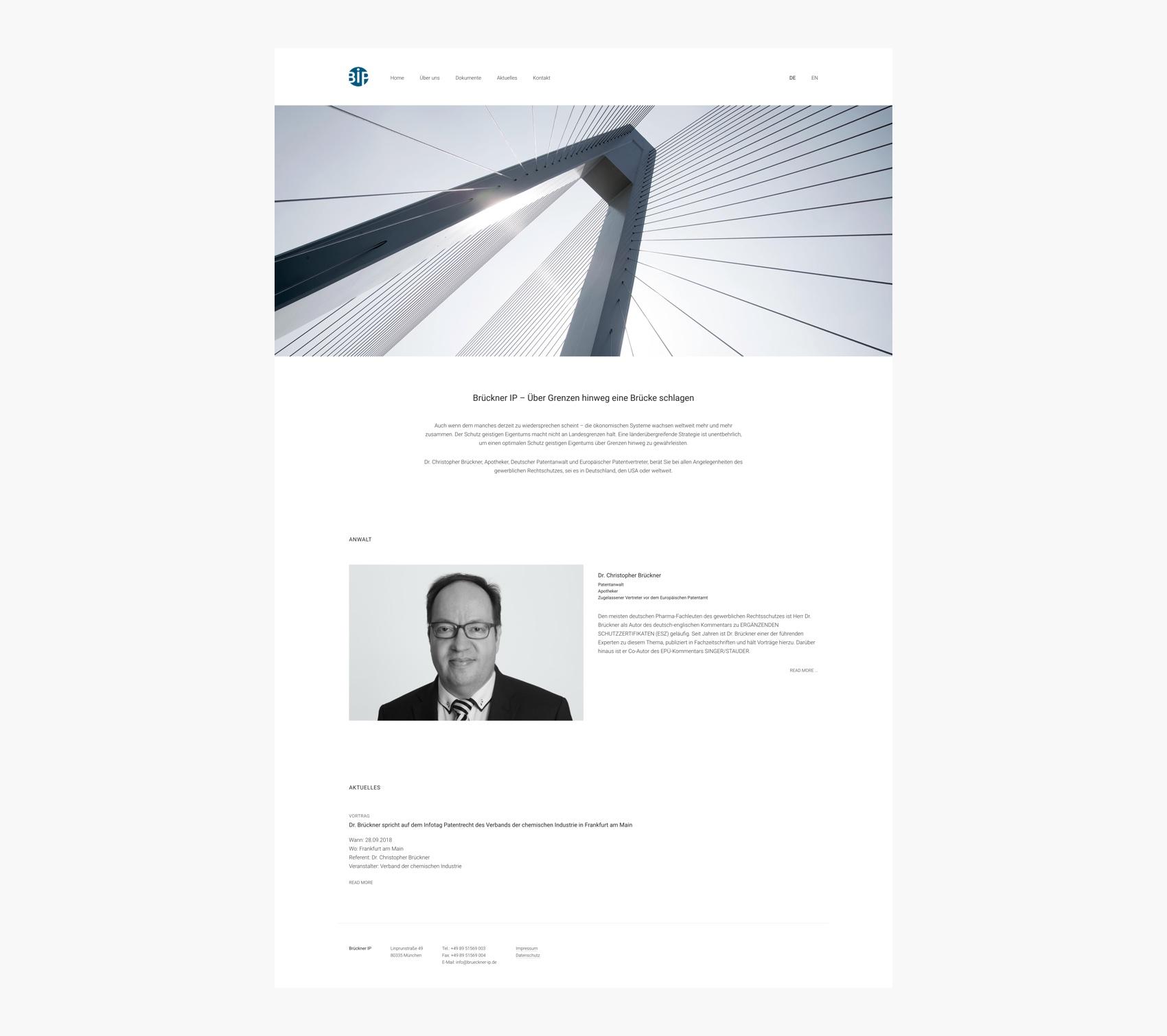 Webdesign München für IP Anwalt
