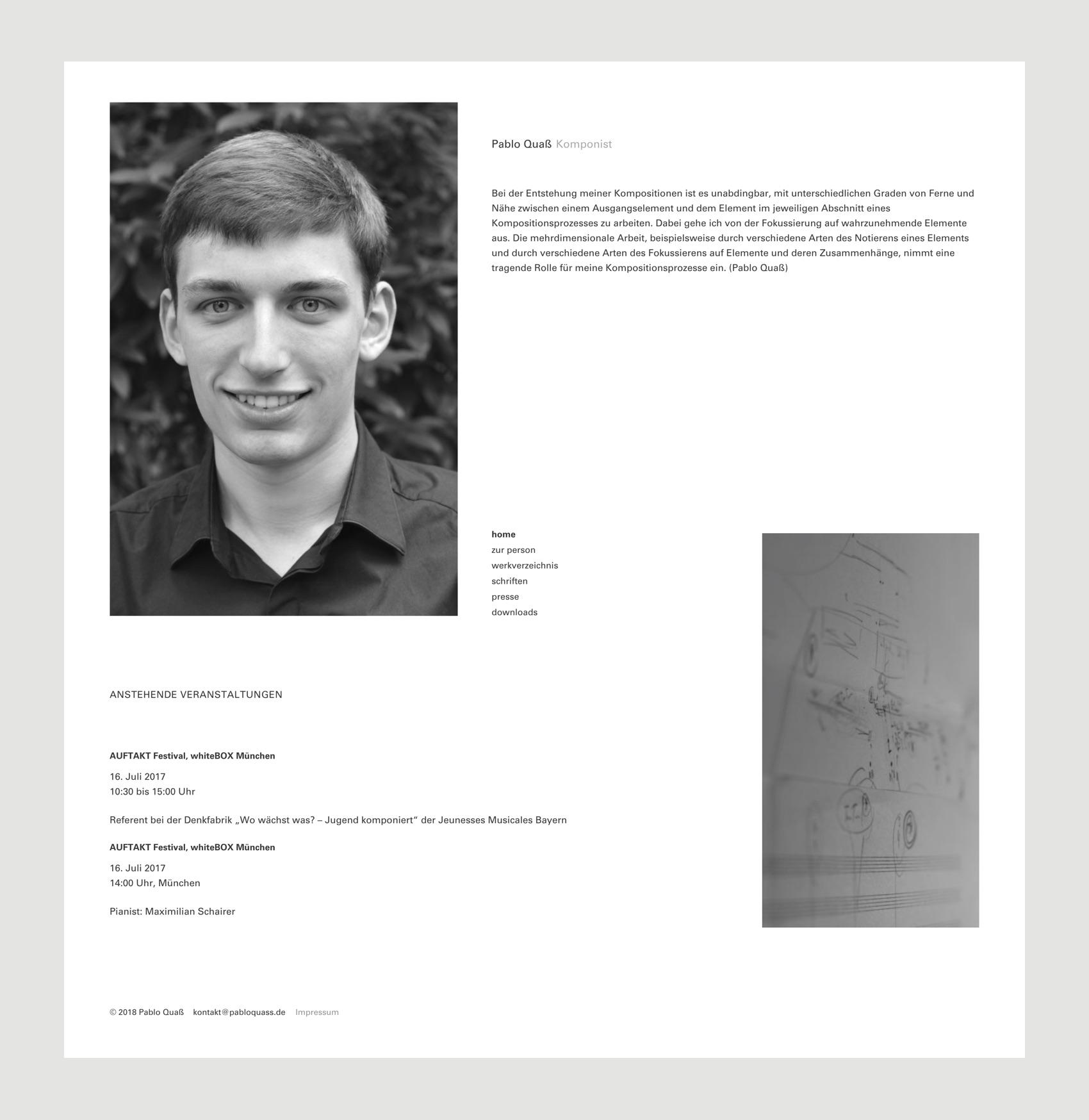 Webdesign München für Komponist