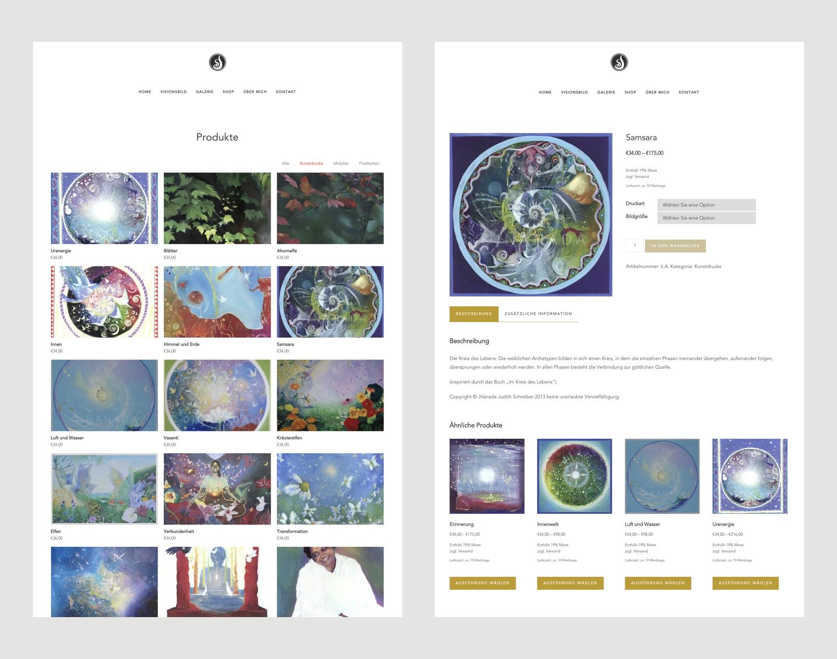 Webdesign München für Künstlerin