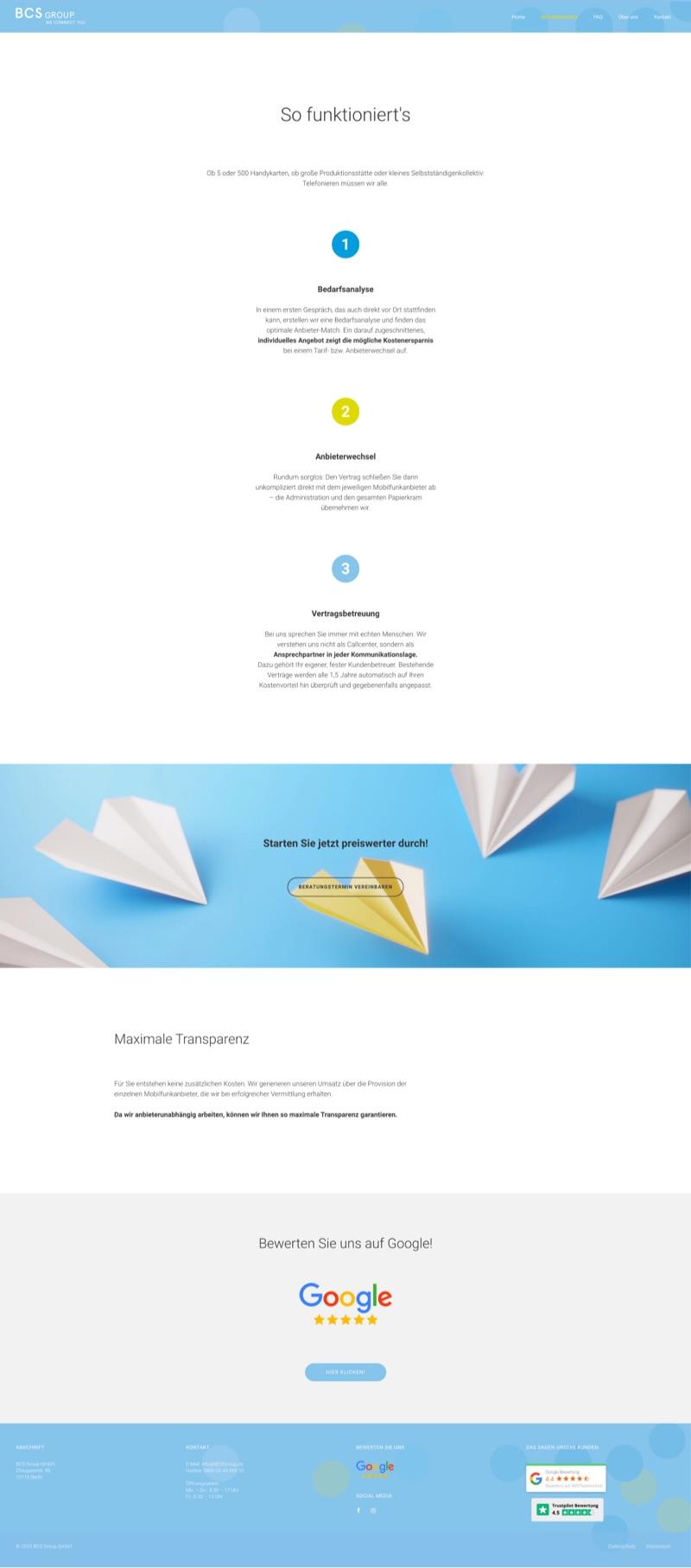 Webdesign München für Unternehmen Mobilfunktarife