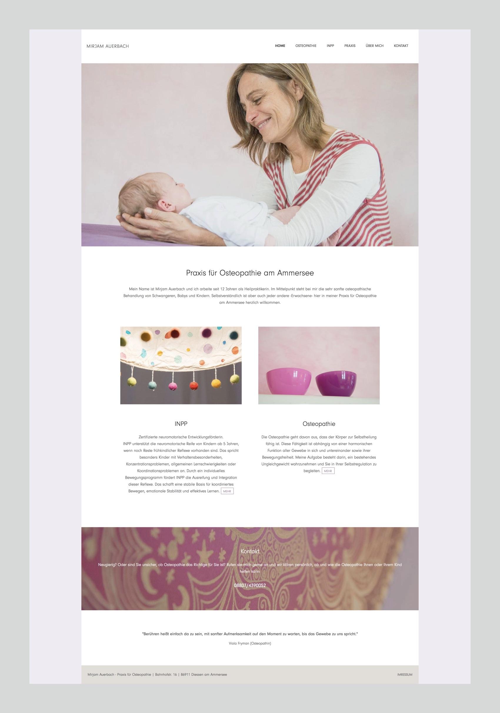 Webdesign München für Osteopathin