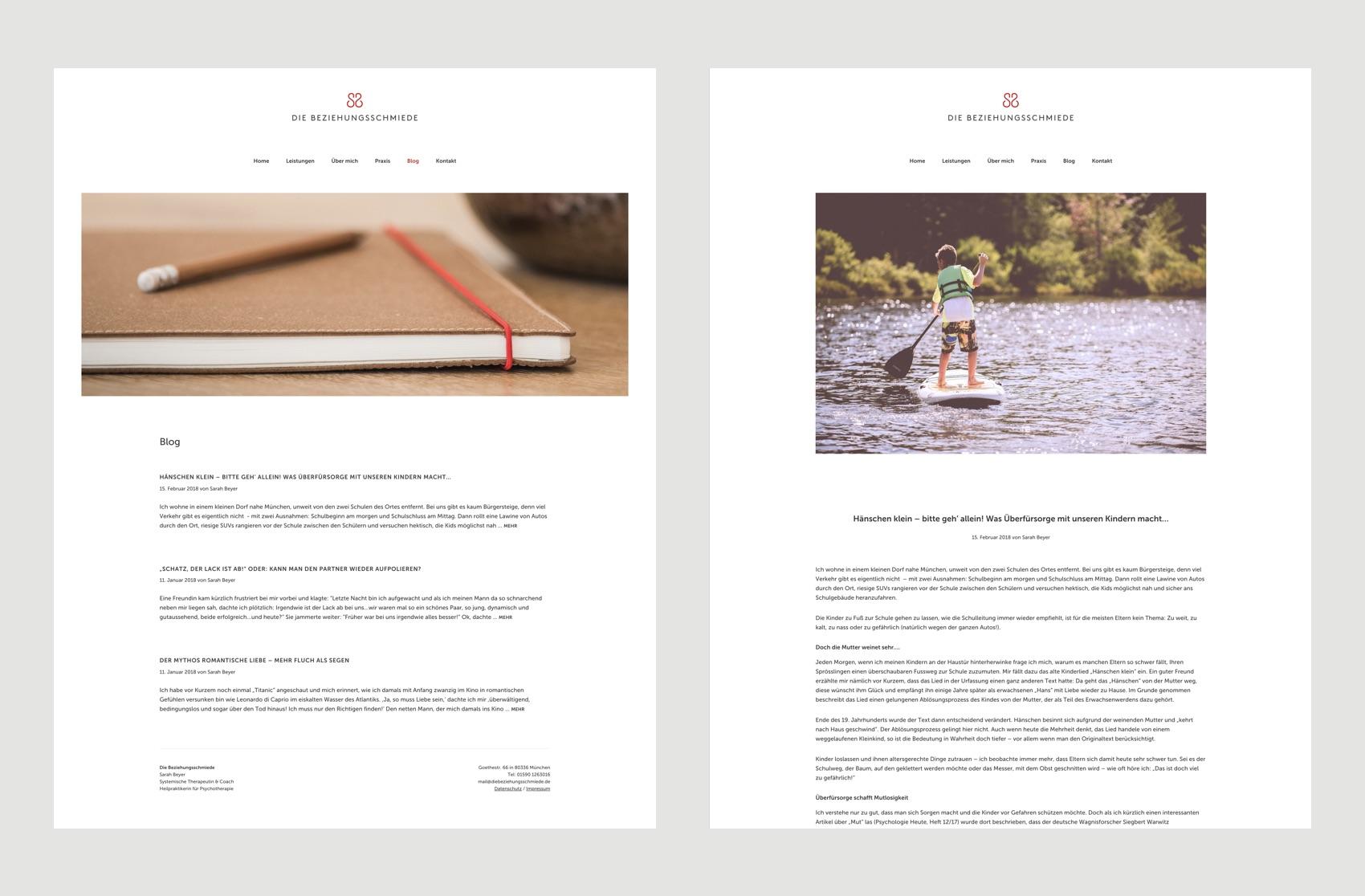 Webdesign München für Paarberatung und Therapie