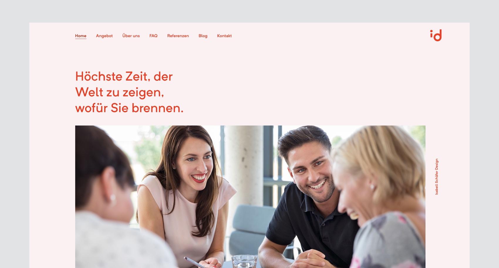 Webdesign München für Rebranding Spezialistin