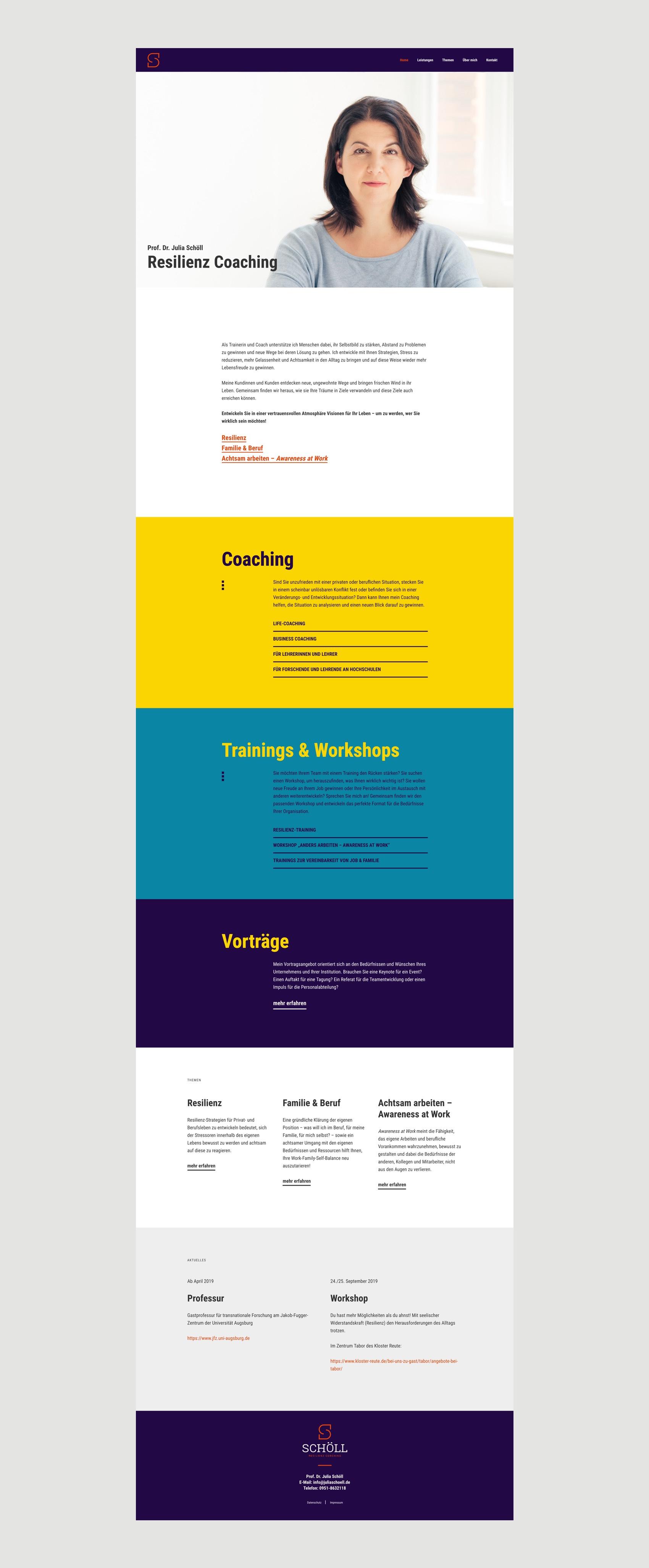 Webdesign München für Resilienz Coahing und Training