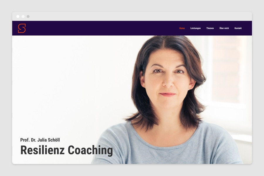 Webdesign für Resilienz Coaching und Training