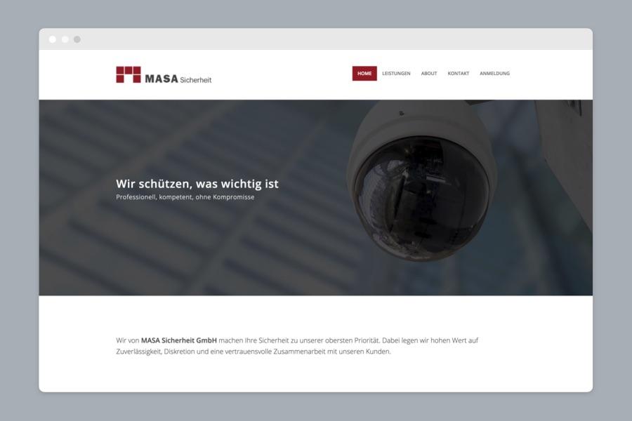 Webdesign München für Security Unternehmen