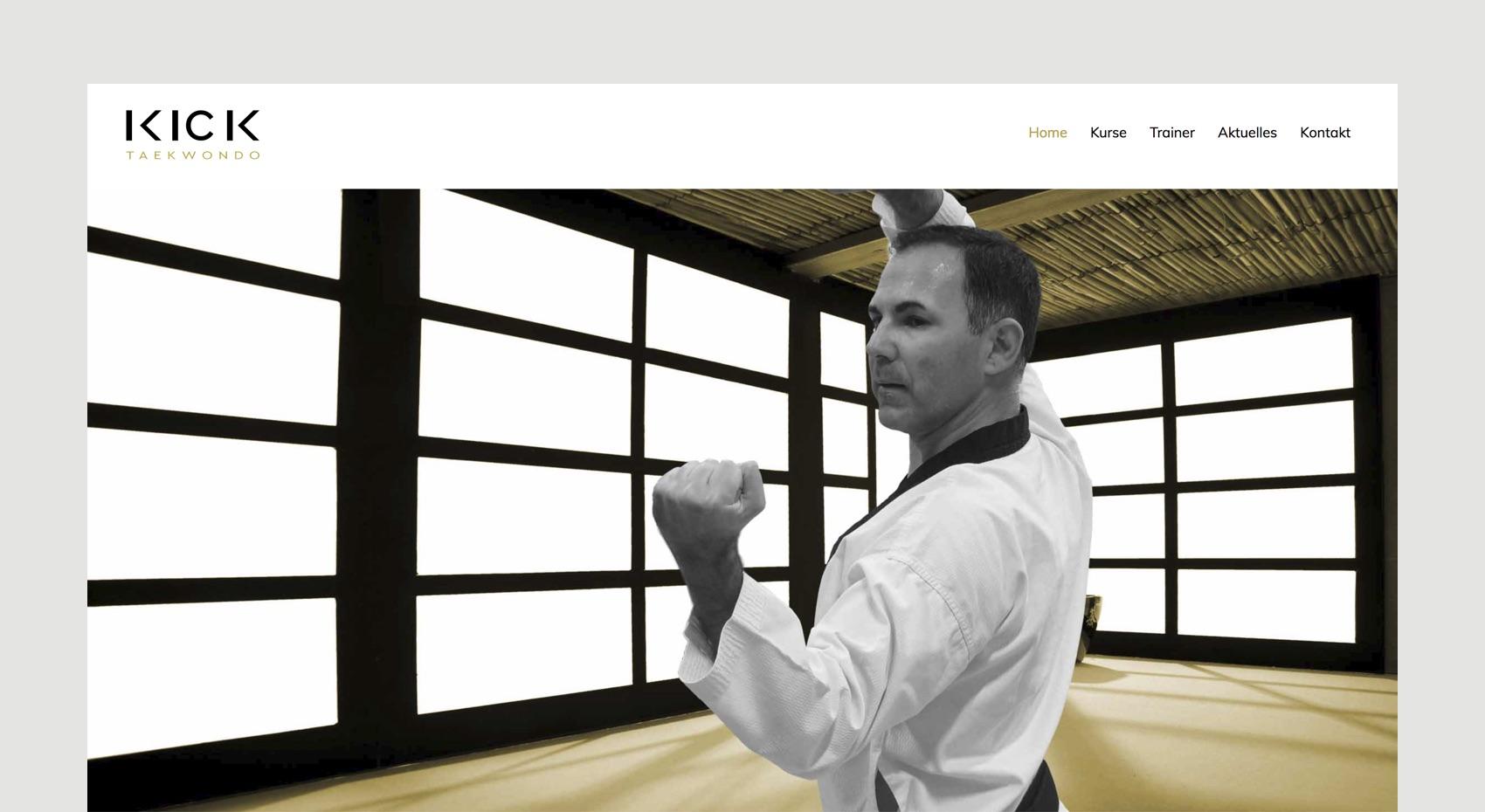 Webdesign München für Taekwondo