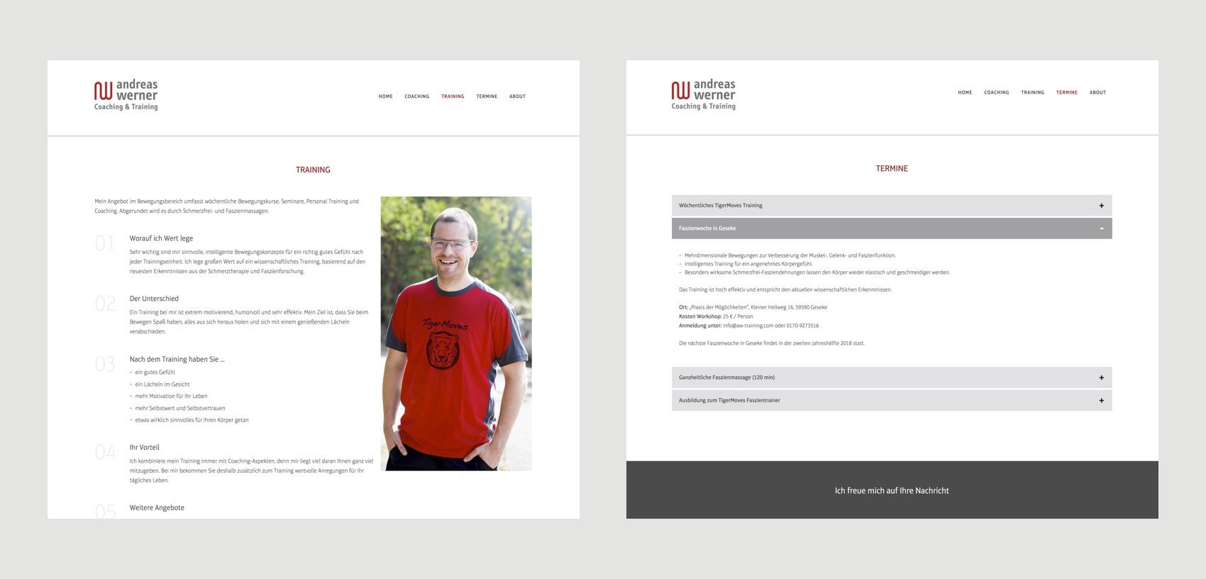 Webdesign München für Trainer und Coach