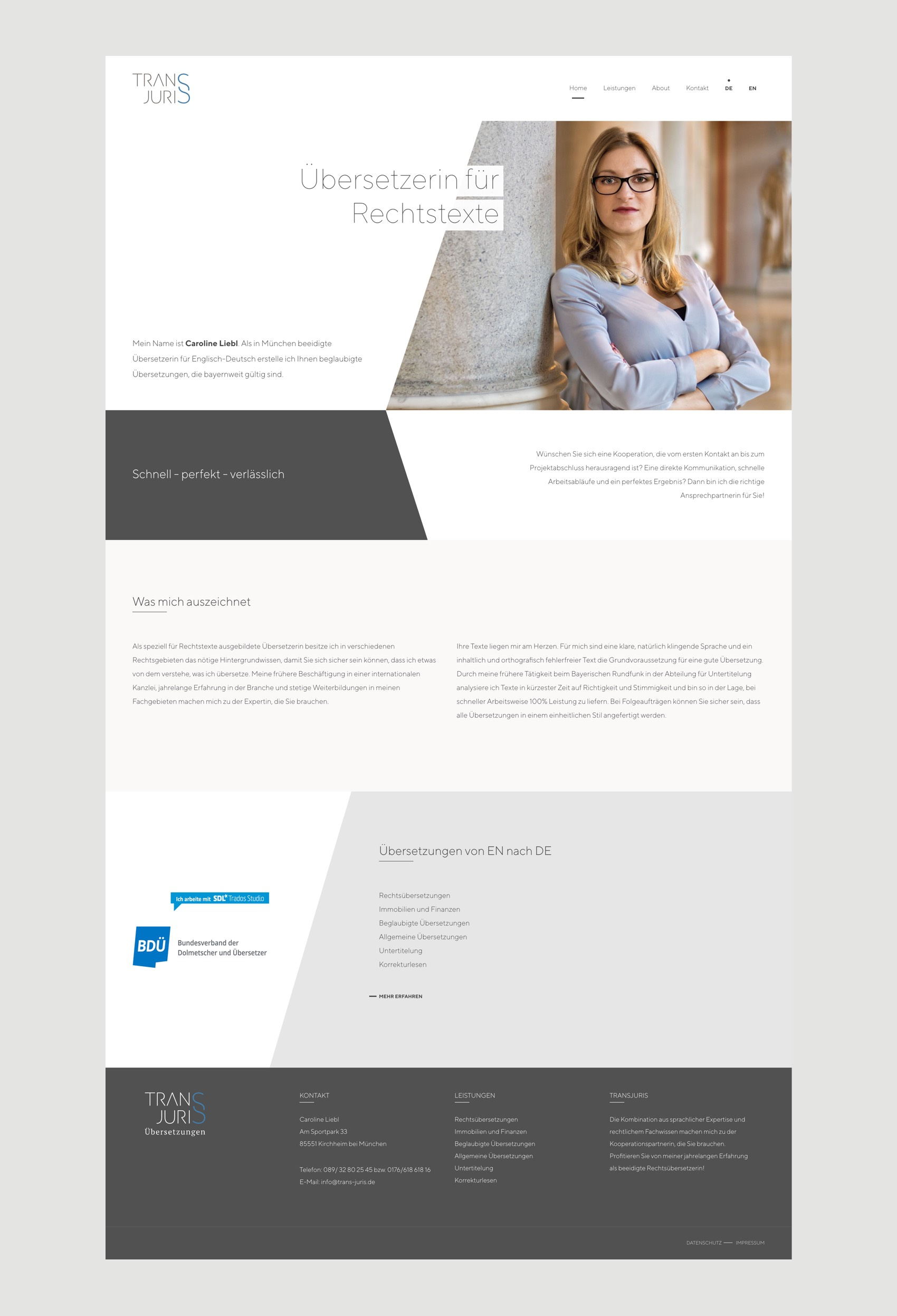 Webdesign München für Übersetzerin