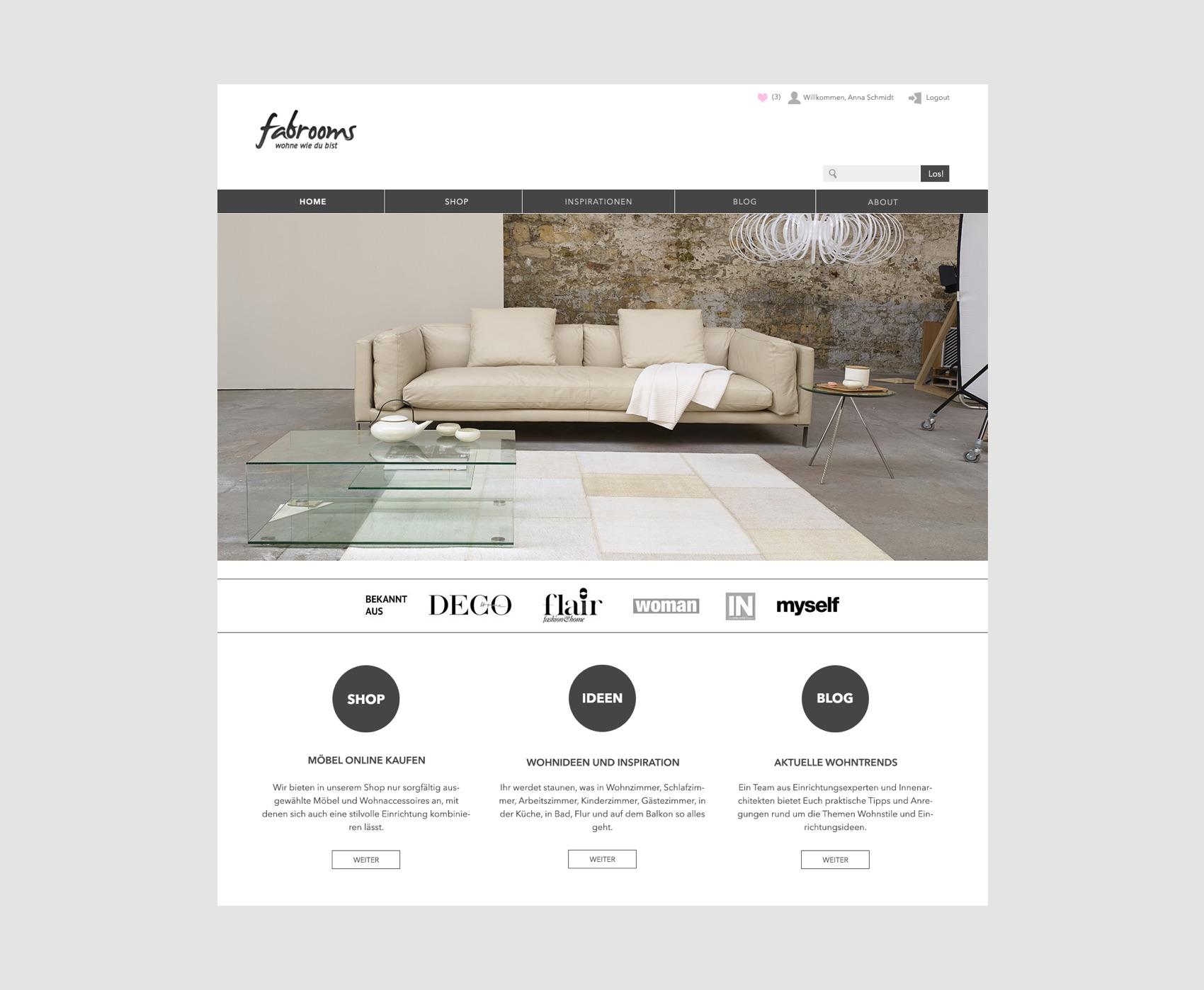 Webdesign München für Wohnportal