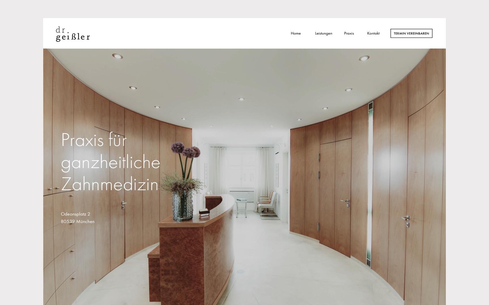 Webdesign München für Zahnarzt