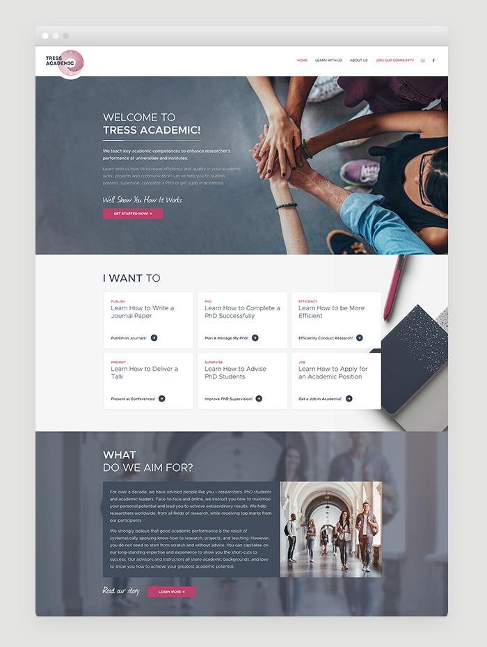 Webdesigner München für Akademiker-Weiterbildung